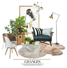 """""""Living"""" by scelestum ❤ liked on Polyvore featuring interior, interiors, interior design, home, home decor, interior decorating, Moebe, UGG Australia, Nearly Natural and Gervasoni"""
