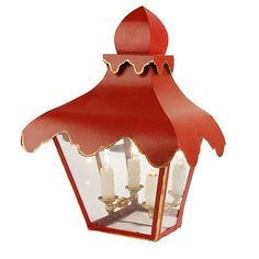 Coleen and Company Lighting - Tole Tent Lantern.