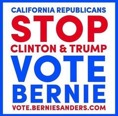 It's going to come down to California saving the Democrat Party and America by voting Bernie Sanders...or voting for Hillary and making Trump president !!!
