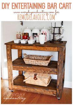 Build a Wood Bar Cart DIY