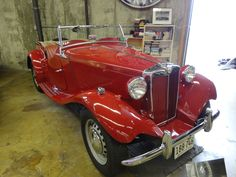 Red 1952 MG Car
