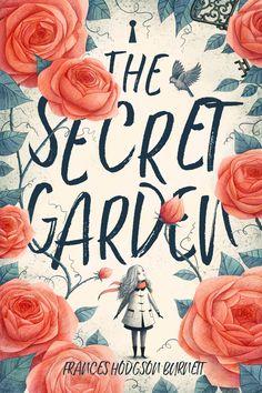Best Book Covers, Beautiful Book Covers, Book Cover Art, Book Art, Best Book Cover Design, The Secret Garden, Buch Design, Garden Illustration, Illustration Styles
