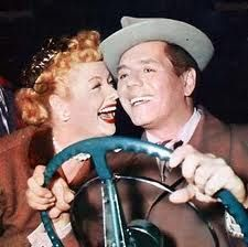 the real Lucielle Ball and Desi Arnaz