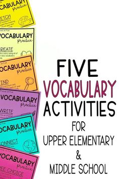 Five different vocabulary activities for upper elementary or middle school. Templates bookmark and assessment included. Everything you need to teach vocabulary in context. Vocabulary In Context, Vocabulary Instruction, Teaching Vocabulary, Vocabulary Activities, Vocabulary Strategies, Science Activities, Classroom Activities, Art Classroom, School Classroom