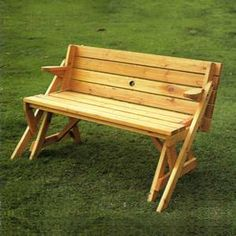 so clever- a bench OR a table! perfect