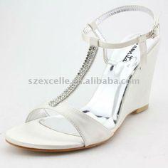 wedding shoes wedge heel | 2012 newest elegant white bridal wedding wedge heels