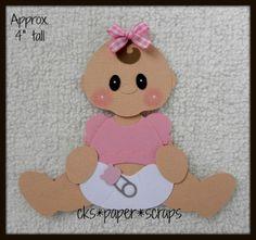 Baby Girl Diaper KID Sitting Scrapbook Paper Piecing