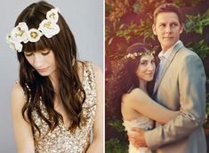 obsessed with flower crowns for weddings--way more me than a tiara or veil