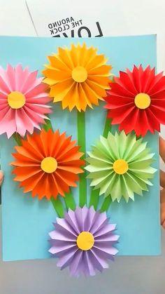 Boy Diy Crafts, Hand Crafts For Kids, Halloween Crafts For Kids, Preschool Crafts, Fun Crafts, Flower Crafts Kids, Garden Crafts For Kids, Preschool Classroom, Paper Flowers Craft