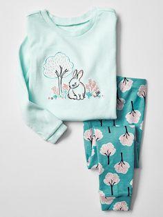 Embroidered bunny sleep set Product Image