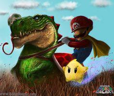 Mario Galaxy by *RoqueRobinArt