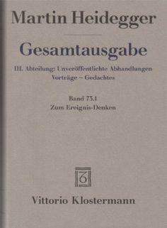 Zum Ereignis-Denken / Martin Heidegger