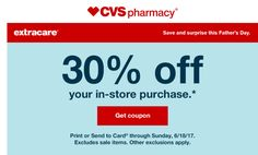 Check Your Emails! CVS Coupons Went Out- I Got 30% off My Purchase!