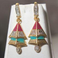 triangle shape multicolor earring