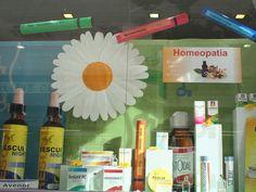 Escaparate de Homeopatía.