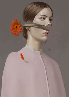 Turkish illustrator Aykut Aydoğdu is one of those artists who's been frequently added to our illustration galleries over the years. Since we more or less have shown his pieces one by one, we've… Behance Illustration, Illustration Vector, Illustration Flower, Portrait Illustration, Behance Branding, Art Du Collage, Foto Art, Surreal Art, Surreal Portraits