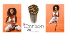 Yoga Practitioner Shoshan Modeling our Om Afro pick for Black Yogis! Afrofuturistic Styling Combs and Afro picks hand made from exotic hardwoods for Natural Hair, Curly Hair and Kinky Hair!  www.carbon-ar.com  Namaste!