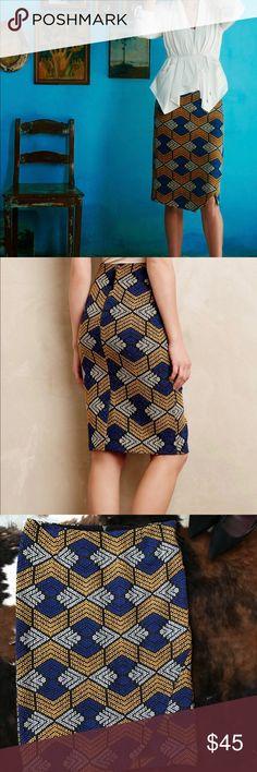 Maeve African print skirt Sz 10 Gorgeous Pattern like new Anthropologie Skirts