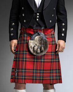 Royal Stewart / Stuart clan kilt Through my father's line, I am eligible to wear this tartan.