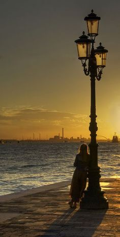 Sunset in Venice.