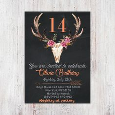5st Birthday Party Invitation Girl First Birthday Invitation