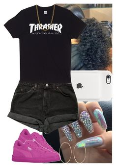 """""""Untitled #1009"""" by msixo ❤ liked on Polyvore featuring Levi's, HUF, Linda Lee Johnson and Kenneth Jay Lane"""