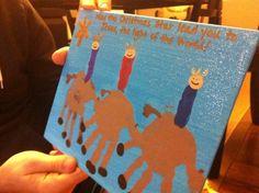 Christmas craft for kids - Wisemen using handprint