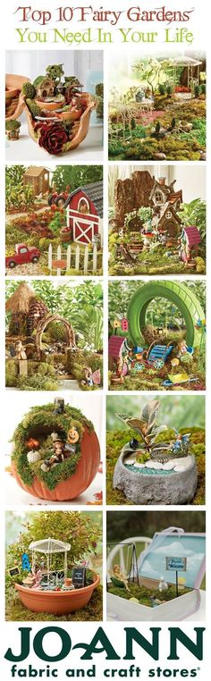 Top 10 fairy gardens that you need this Spring! | Fairy Garden tips and tricks | Pin now read later.