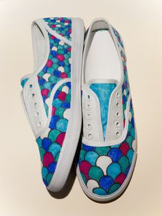 I am making these right now. X) Painted rainbow fish shoes. I changed them a little bit though.