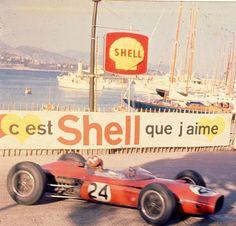 Jo Siffert, Lotus-BRM at the 1964 Grand Prix de Monaco in Monte Carlo. Grand Prix, Monte Carlo, Sport Cars, Race Cars, Motor Sport, Road Racing, Auto Racing, F1 Lotus, Royal Dutch Shell