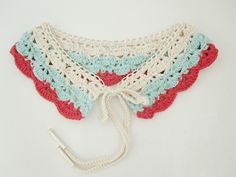 Nautical Collar in Aqua Coral Cream. £42.00, via Etsy.