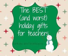 Holiday Gift Ideas for Teachers (from a teacher)