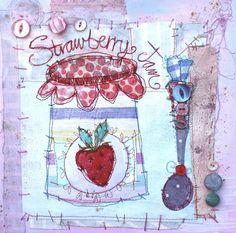 TIme For Tea | Fabulous Collage from British Mixed Media Artist Priscilla Jones - Heart Handmade uk