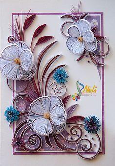 *QUILLING ~ Neli Quilling Art: Quilling card /14.8 cm- 10.5 cm/