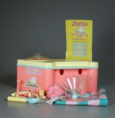 Barbie Ice Cream Shop. I lost most of the pieces actually using it to eat ice cream... just like the box said.