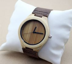 wood watch wooden watch mens watch womens watch Bamboo by DiaBWood