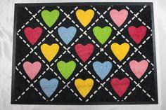 Doormat - hearts