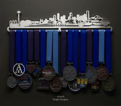 Wonder if they could do a Raleigh...  Allied Medal Hanger  Seattle Cityscape by AlliedMedalHangers