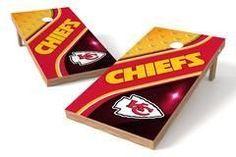 Kansas City Chiefs Single Cornhole Board - Swirl