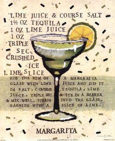 Quick recipe for a marguerite.