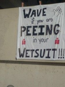 funny signs they saw at triathlon race or road races some pretty funny