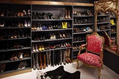 Ugh I will have a closet like this in my future #shoeproblems #closet