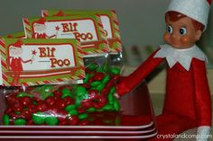 free printable elf on the shelf treats