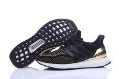 0873e43b5 Adidas Men Ultra Boost Running Shoes Black Gold Adidas Ultra Boost Shoes