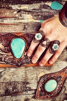 Cool hippy leather rings Very different, I like it! Yep, I'm from the 70's