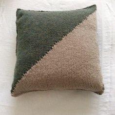 Hand knitted cushion