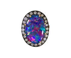Andrea Fohrman | Australian Opal and Diamond Ring in Designers Andrea Fohrman Rings at TWISTonline