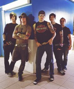 Avenged Sevenfold-one of my fave bands and the members aren't too shabby looking either