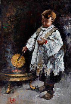 Vincenzo Irolli,  1860 Neapel – 1942 ebenda   Der Künstler besuchte die Academia di Belle Arti di Napoli unter der Leitung von Gioacchino Toma (1836–1891) sowie Federico Maldarelli (1826–1893). Bereits...
