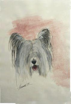 Skye Terrier chien Print par RonHevener sur Etsy